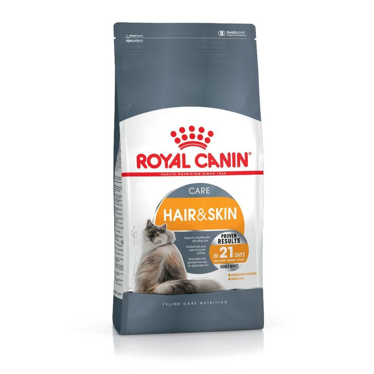Croquette 2kg chat hair and skin Royal Canin 474276
