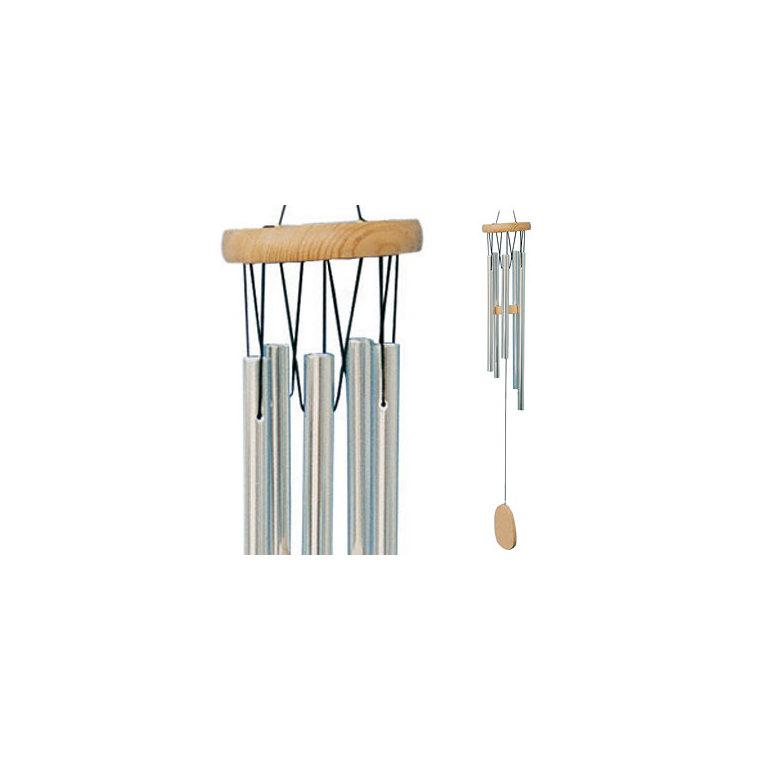 Carillon musical en bois et tubes aluminium, H 30 cm 481095