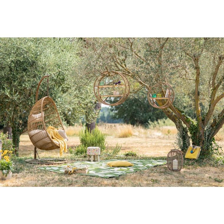 Chaise à suspendre Corsica d'extérieur couleur bois 486706