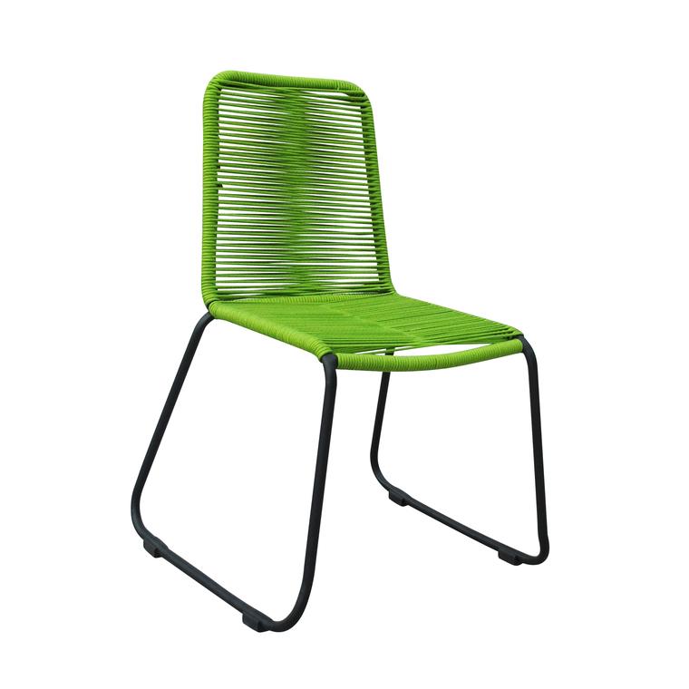 Chaise Padro verte en aluminium et polypropylène 60 x 60 x 90 cm 487284