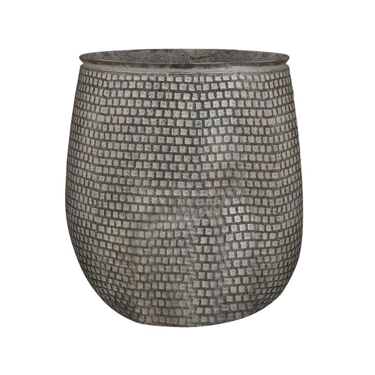 Pot rond Structuro coloris blanc de 79 L Ø 56 x 50 cm 487367