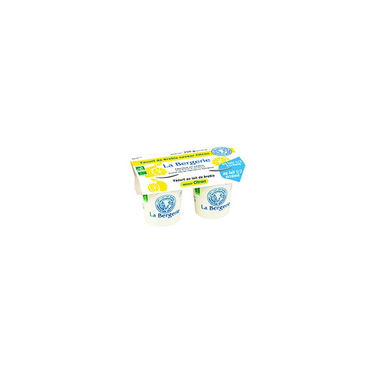 Yaourt brebis citron demi-écrémé - 2 x 125 g 49300