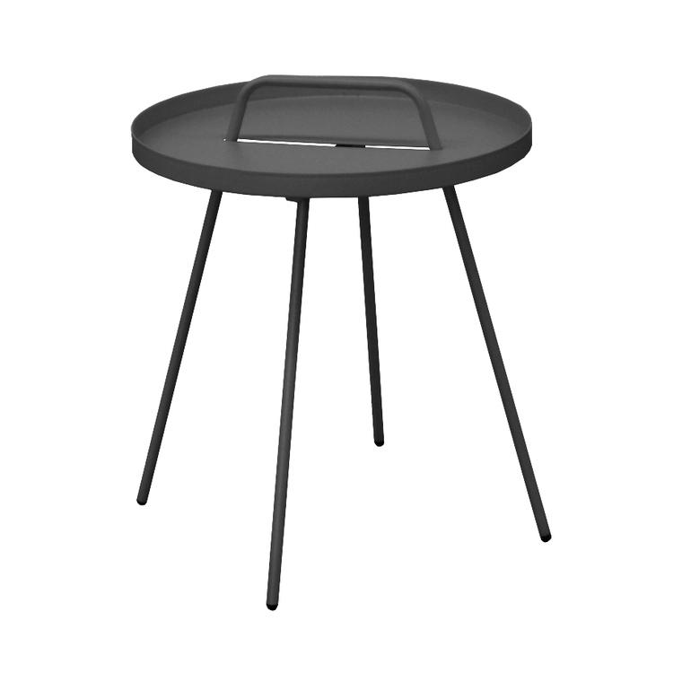 Table basse nomade en acier coloris gris Ø 51 H 44 cm 494635