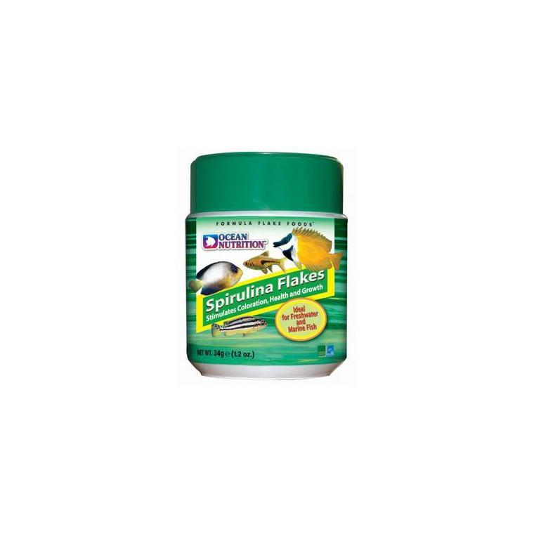 Flocons à la spiruline pour poissons - pot de 34g 496545