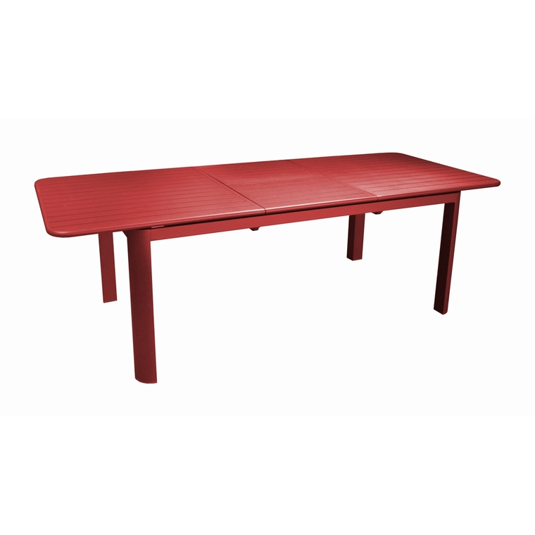 Table rectangulaire à rallonge Oro rouge 180/240 x 100 cm