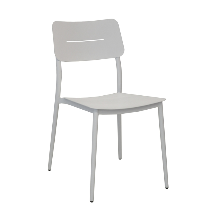 Chaise Dublin coloris blanc crème 58 x 46 x 80 cm