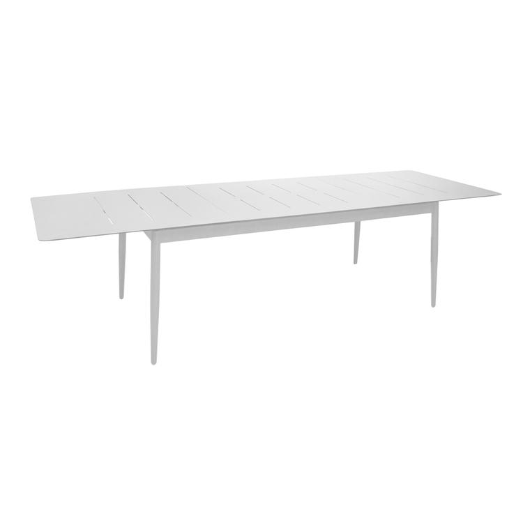 Table extensible Dublin coloris blanc 180/240 x 100 x 74 cm