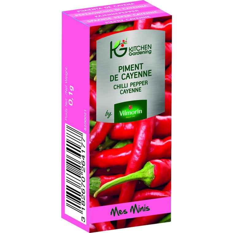 Graines de Piment de Cayenne bio en boite dose