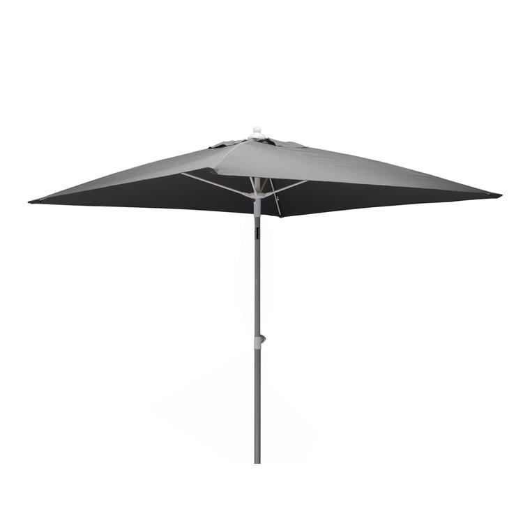 Parasol carré gris de 200 x 200 cm