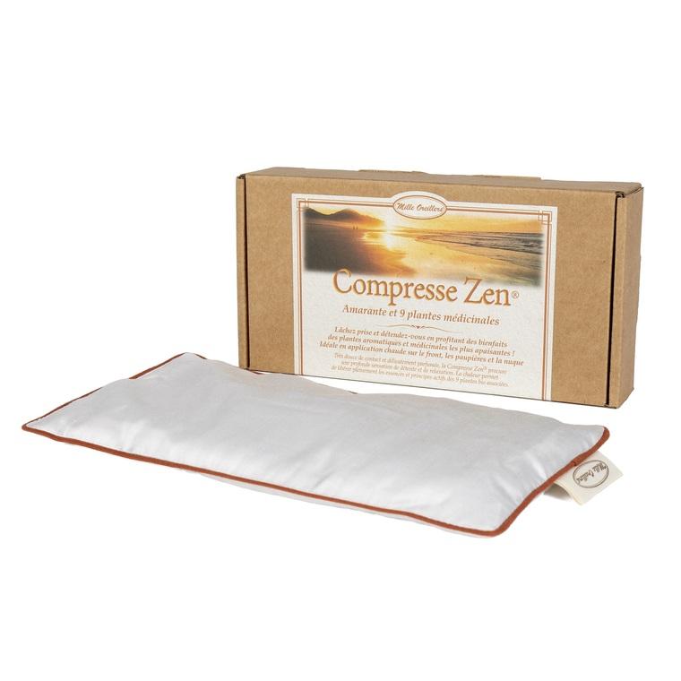 Compresse Zen 11,5 x 24 cm blanc