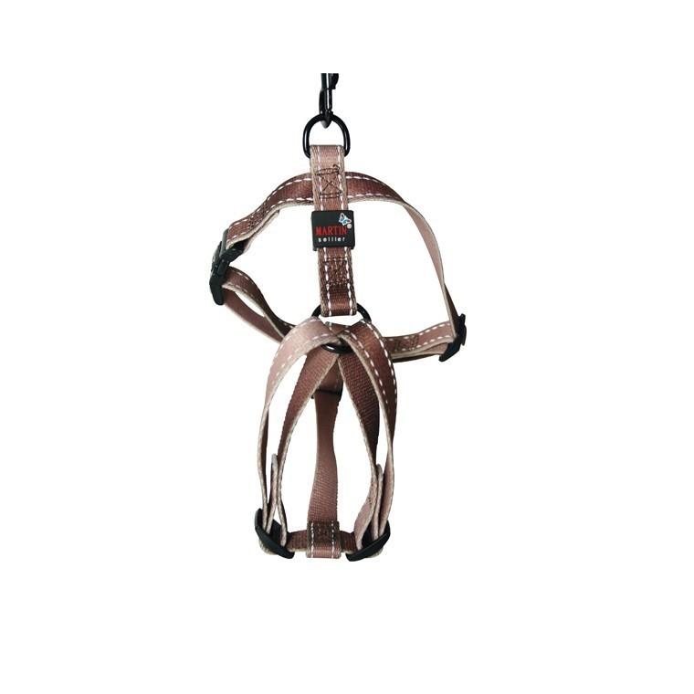 Harnais nylon choco 50/70cm Martin Sellier