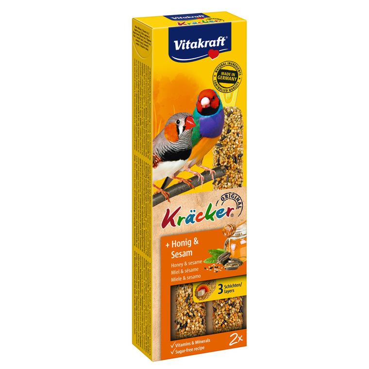 Kräcker Oiseaux x2 miel Vitakraft 59g - pour oiseaux exotiques
