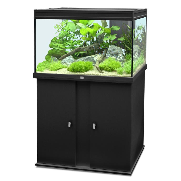 Aquarium elegance 100 noir 179l botanic for Aquarium botanic