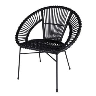 Chaise en rotin noire 73 x 57 x 77 cm 500723