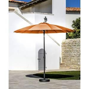 Parasol pagode à manivelle coloris orange Ø 300 cm 501725