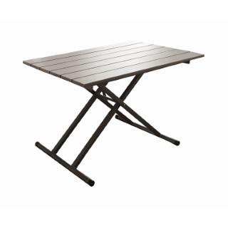 Table élévatrice coloris café 120 x 75 x 39/74 cm 501737