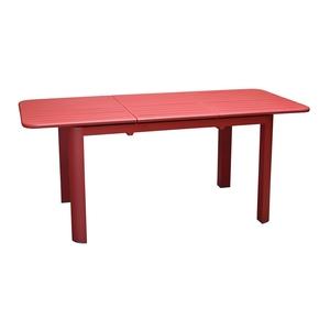 Table rectangulaire à rallonge Oro rouge 130/180 x 80 cm 501740
