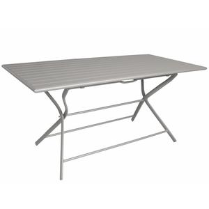 Table pliante rectangulaire Max taupe 160 x 78 x 73 cm 501812