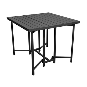 Table carrée rabattable Max coloris gris 90 x 90 x 75 cm 501818