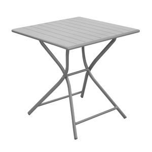 Table pliante carrée Max taupe 70 x 70 x 74 cm 501819