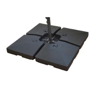 Coque noire à remplir pour parasol 501843