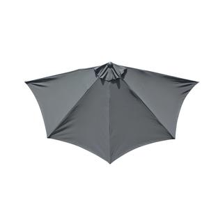 Demi-parasol coloris gris Ø 300 cm 501846