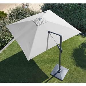 Parasol déporté rotating orientable blanc écru 300 x 300 cm