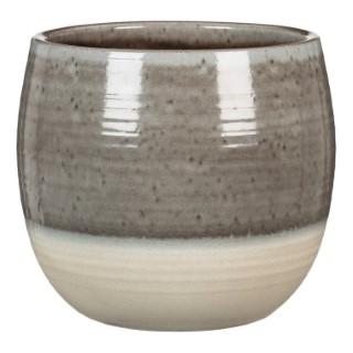 Cache-pot 765 Grey Allure Ø15 x H 14 cm Céramique émaillée 504340