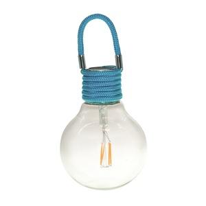 Suspension solaire Color Swing bleue à LED blanc chaud H 17 cm 504925