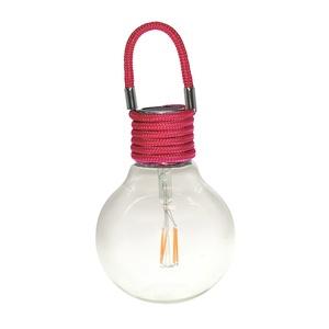 Suspension solaire Color Swing Framboise à LED blanc chaud H 17 cm 504926