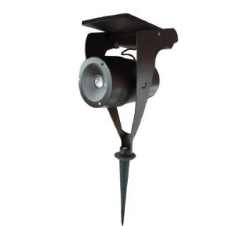 Spot solaire Power spot en acier noir à LED 150 lumens H 33 cm 504940