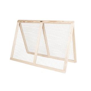 Treillis en métal à cadre en bois pour potager modulable 120x80 cm 505032