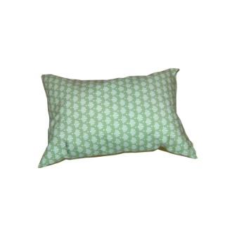 Coussin déco, polycoton, vert, L50 X l30 X H10 cm 505463