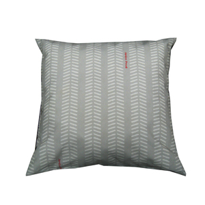 Coussin déco, polycoton, gris, L50 X l50 X H10 cm