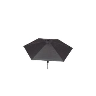 Parasol inclinable à manivelle gris ardoise Ø 250 cm 505479