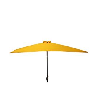 Parasol rectangulaire inclinable à manivelle orange 200 x 300 cm 505483