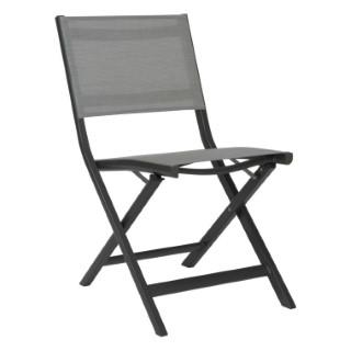 Chaise pliante Nils en aluminium coloris taupe de 49 x 65 x 88 cm 506559