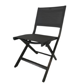 Chaise pliante Nils coloris anthracite 49 x 65 x 88 cm 506560