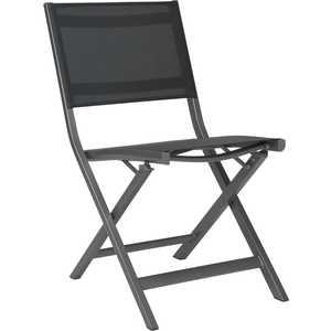 Chaise pliante Nils en aluminium gris argenté de 49 x 65 x 88 cm 506564