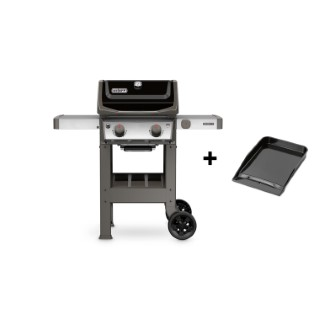 Barbecue spirit II E-210 avec plancha coloris noir 127 x 61 x 115 cm 506772