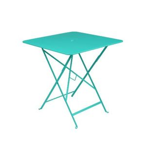 Table pliante en métal BISTRO couleur bleu lagune L71xl71xh74 507311