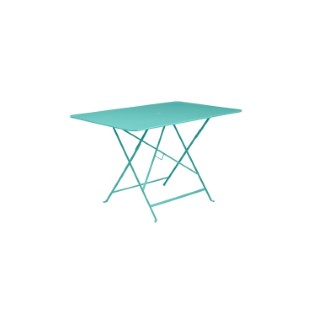 Table de jardin pliante Bistro FERMOB bleu lagune 117 x 74 cm 507313