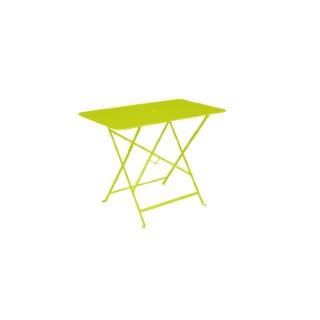 Table pliante en métal BISTRO couleur muscade L95xl57xh74 507550