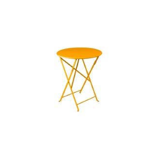 Table pliante ronde bistro en acier coloris miel Ø 60 H 74 cm 507559