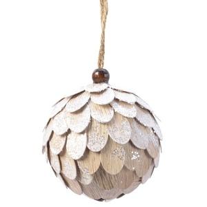 Boule de Noël en mousse effet pomme de pin coloris assortis Ø 8 cm