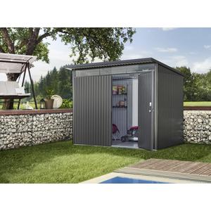 Abri de jardin AvantGarde simple porte acier taille L 260x220x218 cm 523560