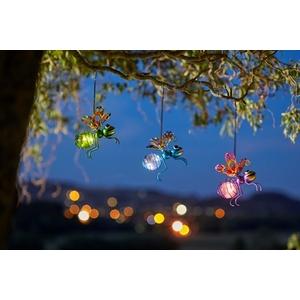 Insecte solaire à suspendre Glowing bugs multicolore à LED blanc chaud 524958
