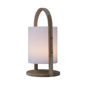 Baladeuse lumineuse avec anse en bois Ø 16,5 x 37 cm 526899