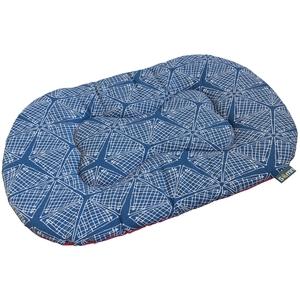 Coussin ovale pour chien Comfort pink spider Somn en tissu bleu 60 cm 535371