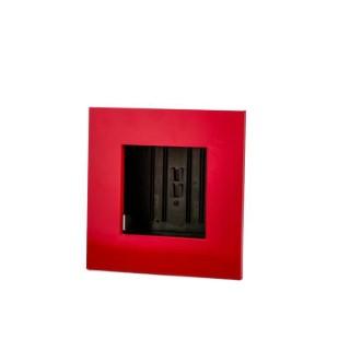 Cadre végétal vide rouge taille S 31 x 31 cm 536495